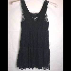 Pinky black lace baby doll dress Size Medium